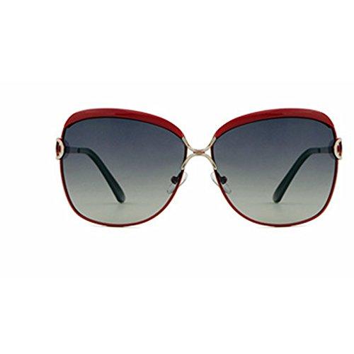 UV Lunettes Mode polarisées Lens de Frame Gray Purple Red Protection de Femmes Soleil Grey Lunettes Sakuldes Soleil Lens Color Vintage Frame xwYvRBt