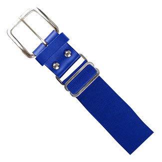 (Champro Elastic Baseball Belt with 1.5-Inch Leather Tab (Royal, 28-52-Inch))