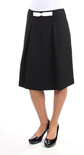 Tahari $69 Womens New 1169 Black Pleated Below The Knee A-Line Skirt 2 B+B