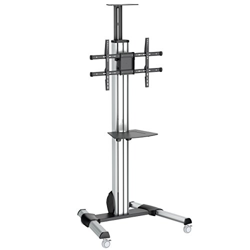 Neo Flex Laptop Mobile - StarTech.com Heavy Duty Rolling Portable TV Cart Stand with Wheels - 32 to 75 inch - Adjustable Rotating Mobile Flat Panel Screen Mount (STNDMTV70)