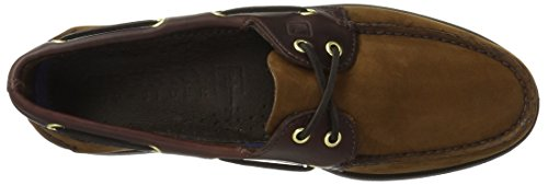 Sperry 0195 - Náuticos de cuero para hombre, color marrón, talla 44,5 Marrón (buc brown)