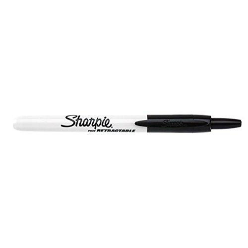 Sanford Sharpie Lp - SANFORD L.P. SHARPIE RETRACTABLE FINE POINT BLK (Set of 3)