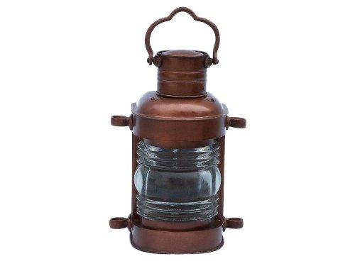 "Hampton Nautical  Antique Copper Masthead Oil Lamp, 14"", Copper"
