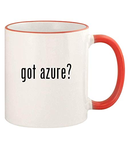 got azure? - 11oz Colored Rim and Handle Coffee Mug, Red