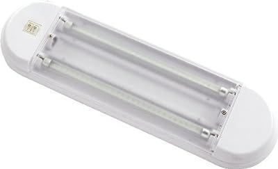 Gold Stars F3528012 Natural White LED Tube Light Fixture (T5 base 2 x 180 Lumens 12v or 24v)
