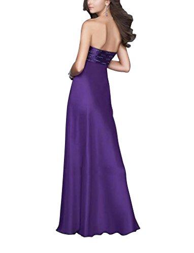 Abend Liebsten Spalte Mantel Applikationen mit Kleid Vorder Slip Lila BRIDE Perlen GEORGE gwtYfnqExO