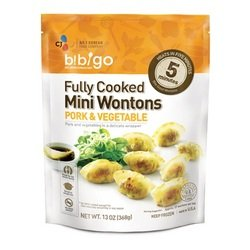 Bibigo Steamed Dumplings Pork and Vegetable, 6 Ounce (Pack of 09) (Pork Dumpling)
