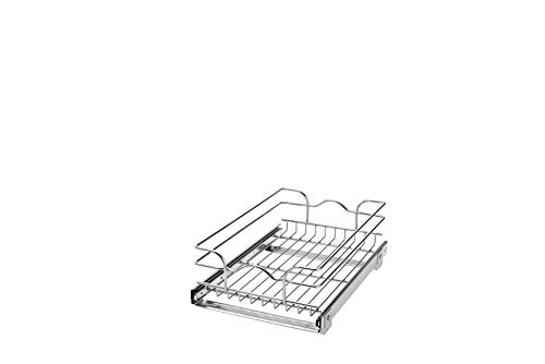 Rev-A-Shelf - 5WB1-1218-CR - 12 in. W x 18 in. D Base Cabinet Pull-Out Chrome Wire - Cabinets 18 Deep Kitchen