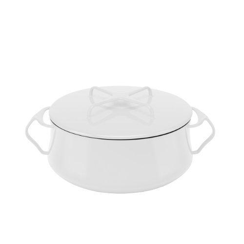 Dansk Kobenstyle Casserole, 6-Quart, White by Dansk