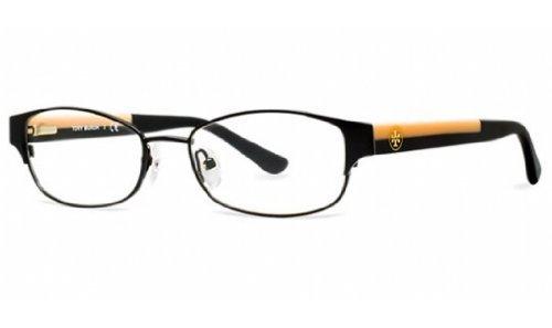 TORY BURCH Eyeglasses TY 1037 3009 Black Cream - Burch Eyeglass Case Tory