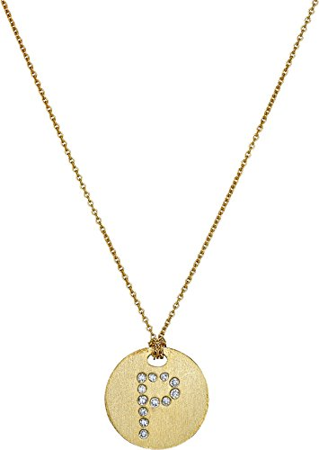 Roberto Coin Women's Tiny Treasures 18K Yellow Gold Initial P Pendant Necklace Yellow Gold One Size (Diamond / Roberto Necklace Coin 18k)