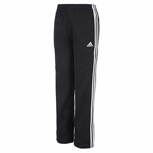 adidas Youth 3 Stripe Tech Fleece Pant (Black White, Medium(10/12))