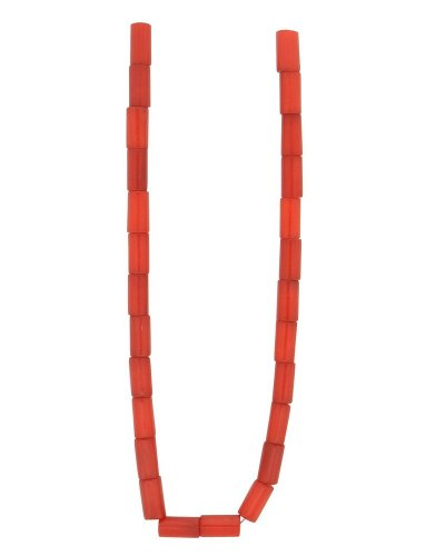Red Coral Tube (TENNESSEE CRAFTS 1301 4mm Coral Bamboo Coral Tube Beads, Red)