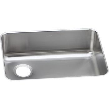 Elkay ELUH2317L Stainless Steel Left Drain Gourmet 18-3/4-Inch x 25-Inch Single Basin Undermount Stainless Steel Kitchen Sink by Elkay by Elkay