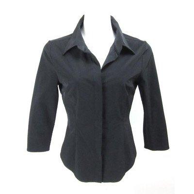 イベント国民アイデアフォクシー ニューヨーク FOXEY 黒 7分袖 シャツ 40