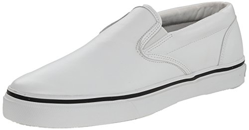 Sperry Top-Sider Mens Striper SO Leather Boat Shoe White 10 M US