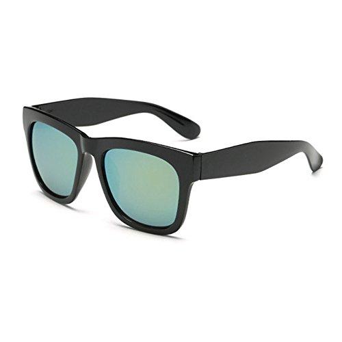 Aoligei Lunettes de soleil lunettes de soleil hommes dames grosse boîte star avec lunettes de soleil lunettes rétro D