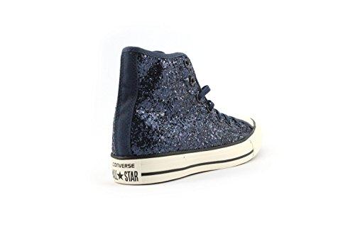 Converse All Star Hi Tex Glitter - Zapatillas abotinadas Mujer Blu