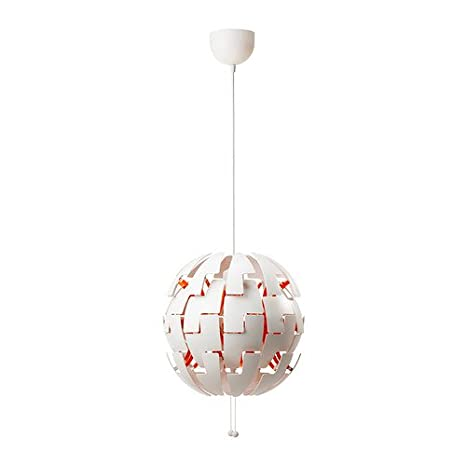 Ikea 2014 Pendant Lamp, White, Orange 10210 232926 1818
