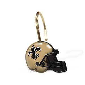 The Northwest Company New Orleans Saints NFL Shower Curtain Rings ()