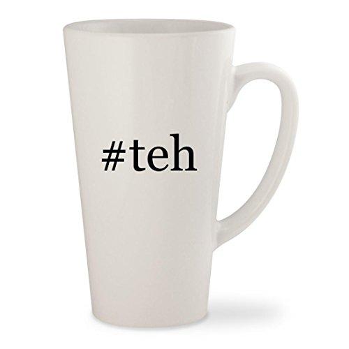 #teh - White Hashtag 17oz Ceramic Latte Mug Cup