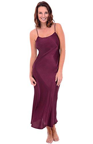 45763028fa Alexander Del Rossa Del Rossa Womens Satin Nightgown