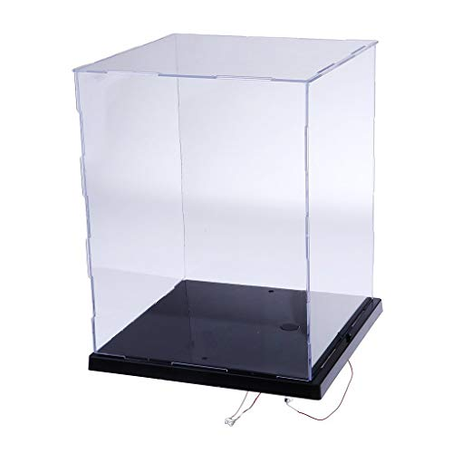 Lanscoe Clear Acrylic Display Case Countertop Box Cube Organizer Stand Dustproof Protection Showcase for Action Figures/Toys/Collectibles (8.5x8.3x10.2Inch, 21.5x21x26 cm)