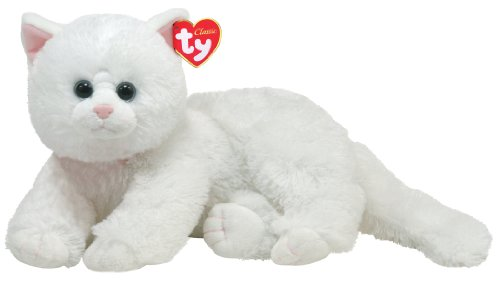 TY Classic - Crystal - White Cat (Stuffed Animals White Bear)