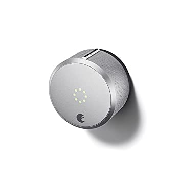 Image of August Smart Lock, 2nd Generation, HomeKit enabled (Silver) Home Improvements