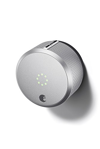August Smart Lock, 2nd Generation, HomeKit enabled (Silver) (Best Camera Deals Canada)