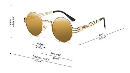 86a7363bde GAMT John Lennon Glasses Quavo Steampunk Round Sunglasses Circle ...