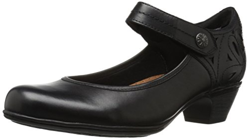 Cobb Hill Women's Abbott Ankle Strap Pump, Black Leather, 11 M US -