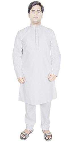 kurta-pajama-for-men-pure-cotton-white-indian-yoga-meditation-summer-dress-l