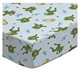 SheetWorld Fitted Bassinet Sheet 15 x 33 - Frogs n Pods - Made In USA