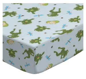 Frog Pod (SheetWorld Fitted Crib / Toddler Sheet - Frogs n Pods - Made In USA)