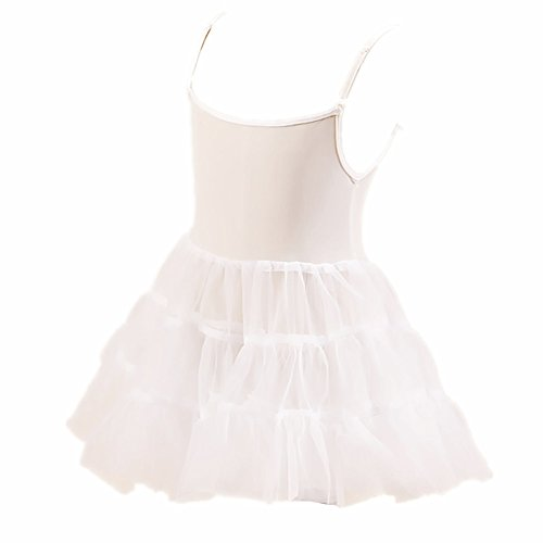 Edress Little Girls White Bouffant Slip Petticoat Extra Full 4t-6t (4T-6T, White) ()