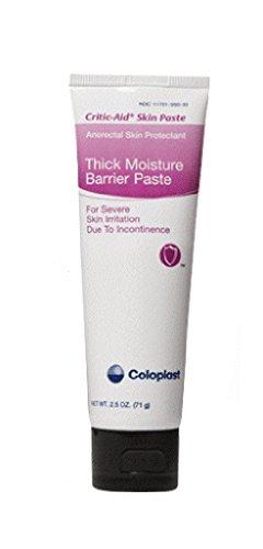 Coloplast Critic-Aid Thick Moisture Barrier Skin Paste 2-1/2Oz Tube, Zinc-oxide Base (1 Tube)