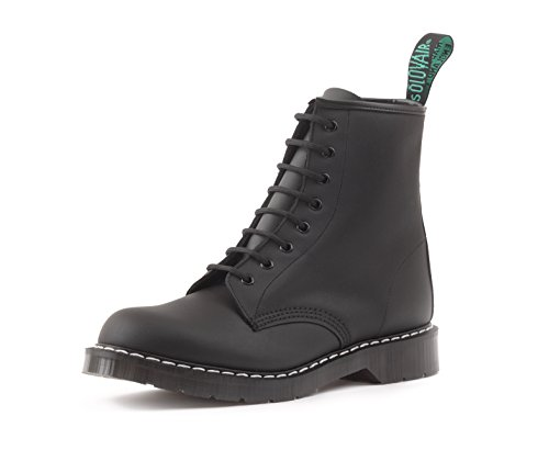 - Solovair 8 Eye Derby in Greasy Black Made in England