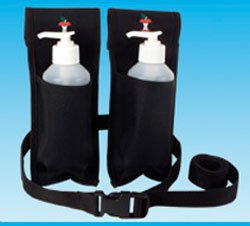 Holster Oil Double (Double Oil and Lotion Holster With Bottles - Black)
