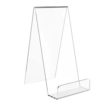 Estante para sujetar libros Displaypro, de acrílico, extragrande, transparente, 5 unidades, para teléfonos, placas y más -: Amazon.es: Oficina y papelería
