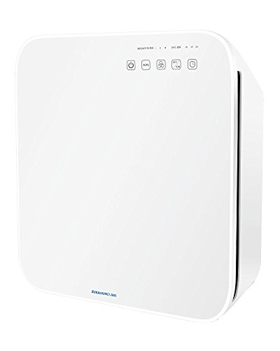 Surround Air MT-8500 6-in-1 Ionic Air Purifier with True HEPA, Germ-Killing UV Light and Negative Ion Generator (White)