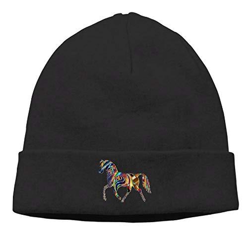 nordic runes Horse Animal Beanie Hat Winter Warm Knit Skull Cap for Mens/Womens ()