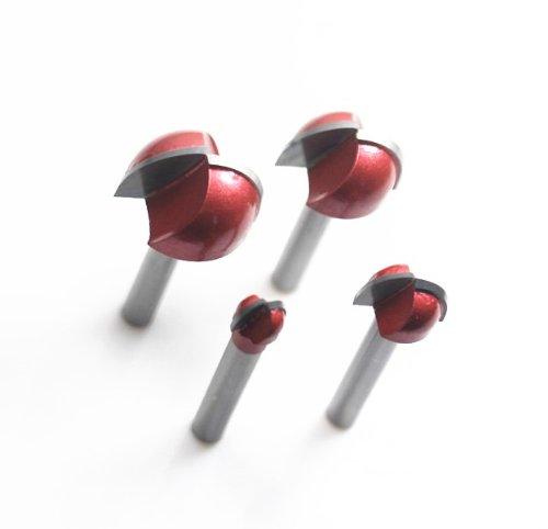 Autek CNC-Stich-V Groove madera, punta semi-redonda, 6 x 25 mm Fresas para router