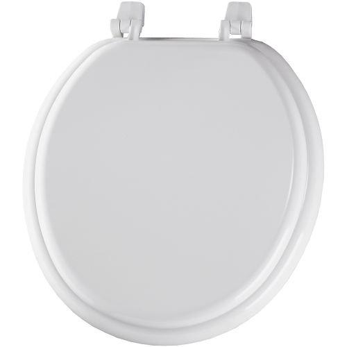 Bemis 400TTA000 Economy Molded Wood Round Toilet Seat, White
