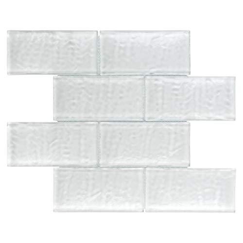 Glacier Tile Flooring - SomerTile WITICSGW Igluit Convex Glass Mosaic Wall Tile, 11.625