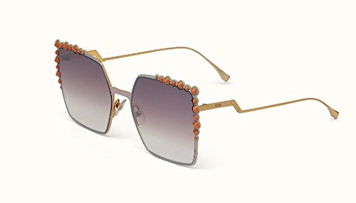 - Fendi Authentic Sunglasses FF0259/S Pink w/Violet Brown Gradient Lens 35J FF 0259/S F0259/S FF0259S F0259S (60mm)