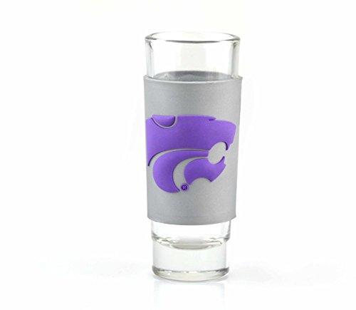 Collegiate Pulse Kansas State Wildcats 2oz. NCAA PVC WRAP Collector (Shot) Glass