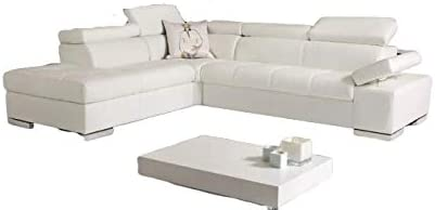Amazon.com: Bonotti Gavriel - Italian Leather Sofa (Cream ...