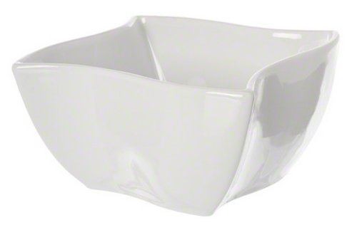 American Metalcraft SQVY5 Sqauvy Porcelain Bowl, 25-Ounce, White