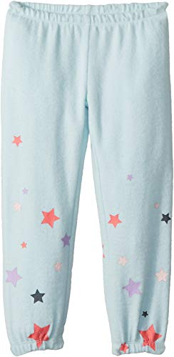 Chaser Kids Baby Girl's Super Soft Love Knit Cozy Sweatpants w/Delicate Star Print (Toddler/Little Kids) Waterfall ()